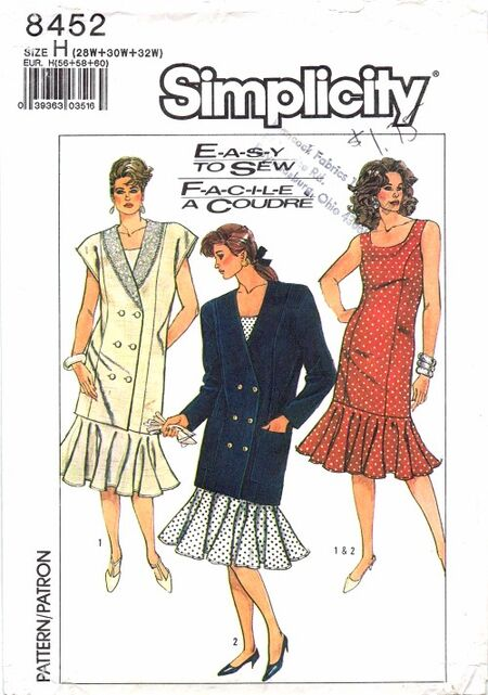 Simplicity 1987 8452