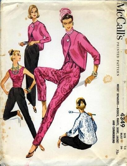 1957 Cocktail Ensemble spectacular M4349