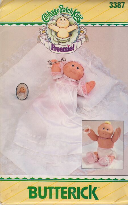 Butterick 3387 Cabbage Patch Premie Clothes