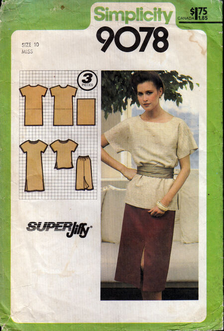 Penelope Rose vintage sewing pattern 1970s tunic, skirt at Artfire