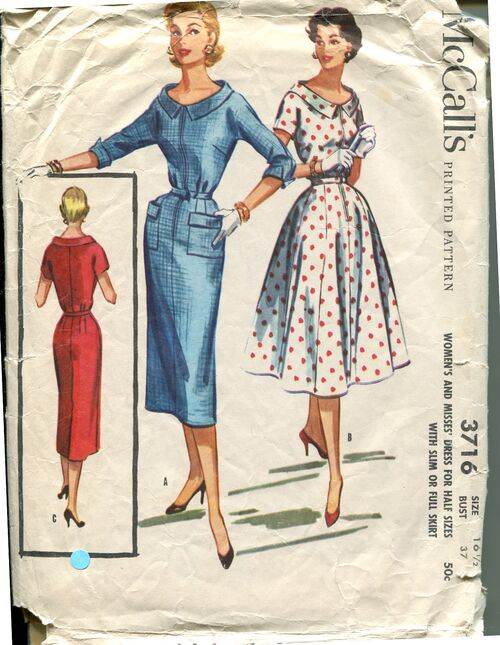 McCall's 3716 Size 16.5