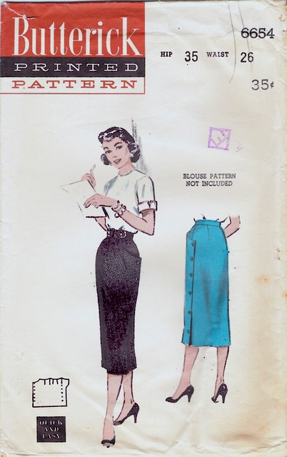 1950's Butterick 6654 front