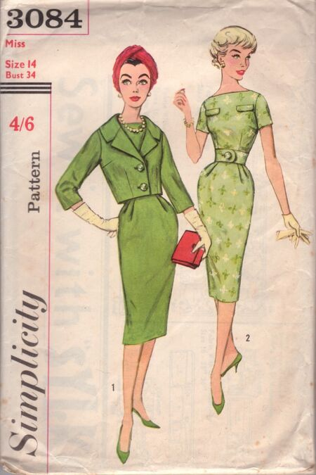 Simplicity 3084 RETRO dress + jacket