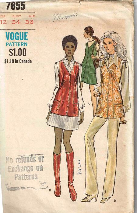 C1970s 7855 Vogue Vest