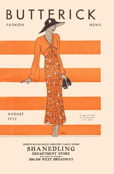 Butterick fashion news aug 1932