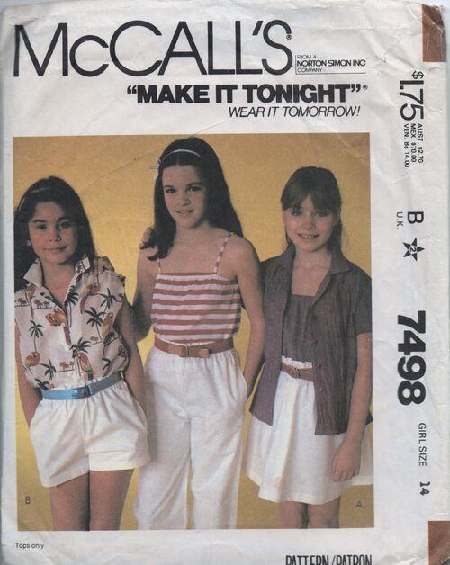 McCall's 7498