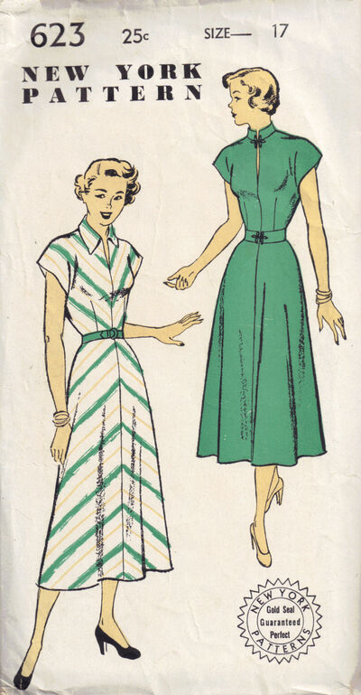 C1940s 623 new York Pattern dress