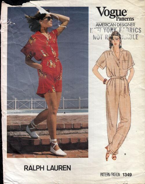 Penelope Rose vintage sewing patterns Ralph Lauren 1980s