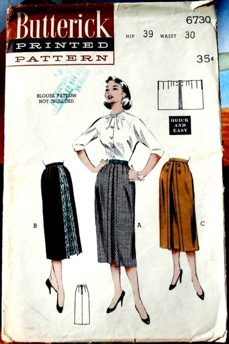 Butterick 6730 A image