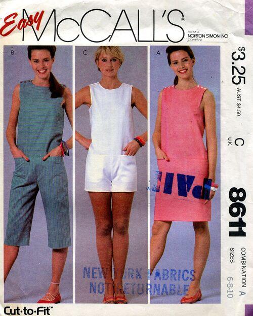 McCalls 8611 jumpsuit pattern romper dress (2)