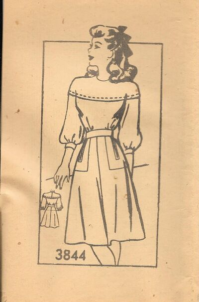 AW3844size14,1940s