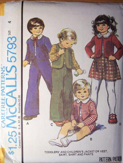 McCall's 5793 A