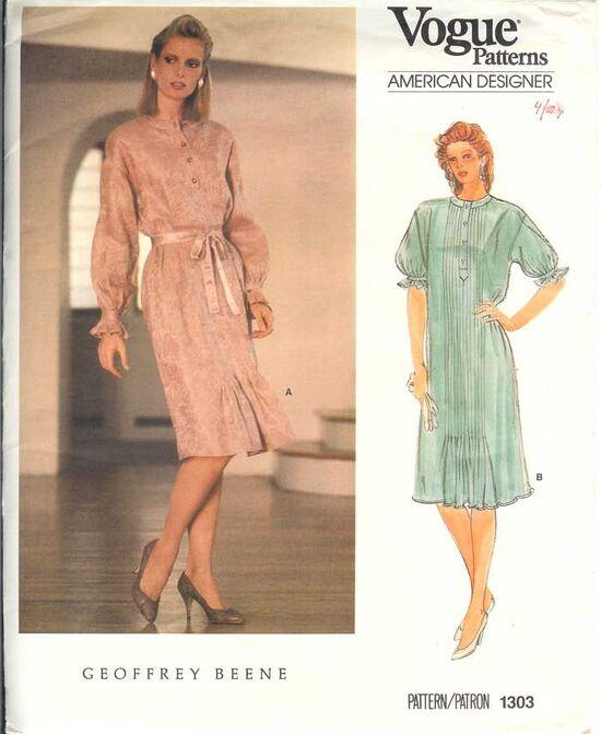 W-1303V 1980s dress