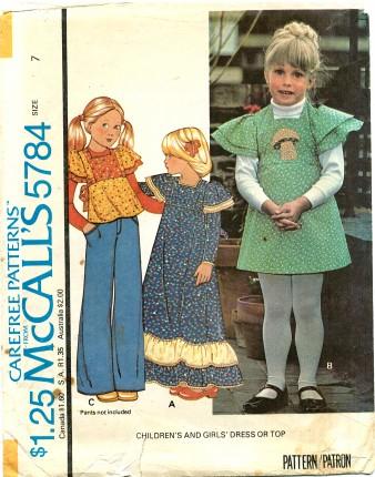McCalls 1977 5784 F Size 7