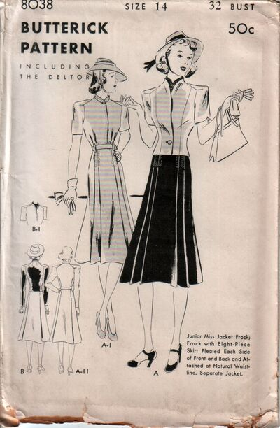 Butterick 8038 front