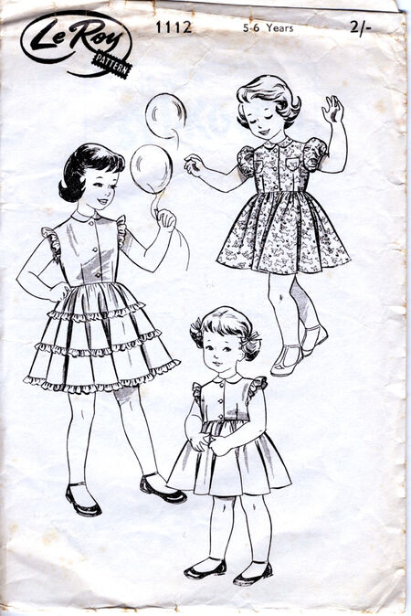 Le Roy 1112 Girls dress vintage pattern