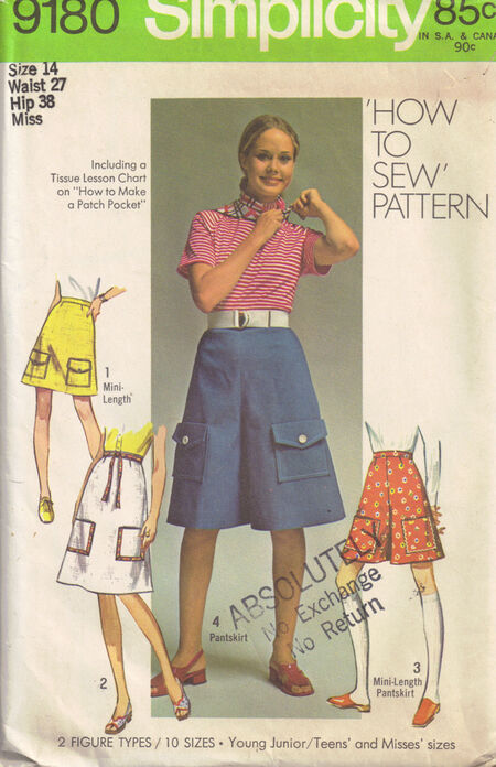 C1970 9180 Simplicity Skirt