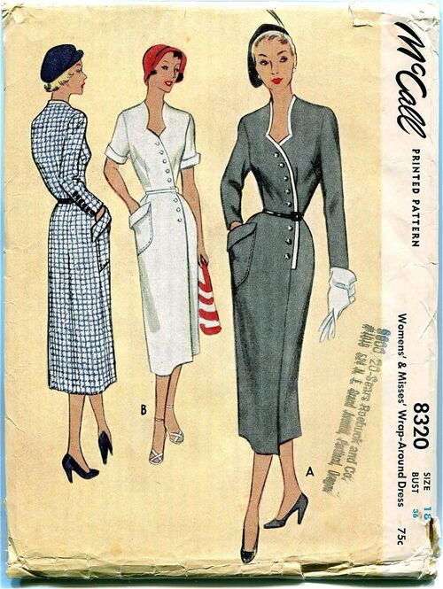 McCalls 8320 Vintage Sewing Pattern at Design Rewind Fashions on Etsy a