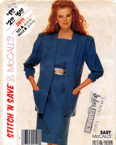 McCalls 1986 2811