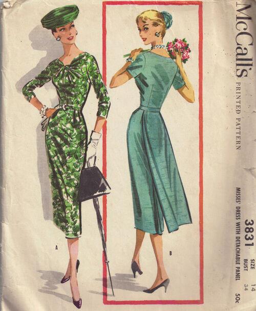 C1956 3831 McCalls Dress