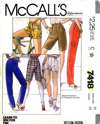 McCalls 1981 7418