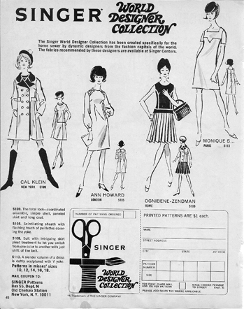 Singer Mail Order Patterns