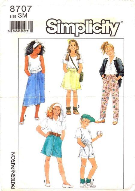 Simplicity 1988 8707