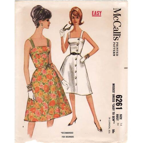 Vintage Audrey 1960's Fitted Sundress
