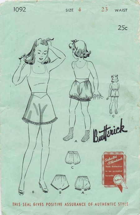 Butterick 1940 1092