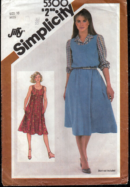 Vintage sewing patterns 1980 Jiffy sundress Penelope Rose at Artfire