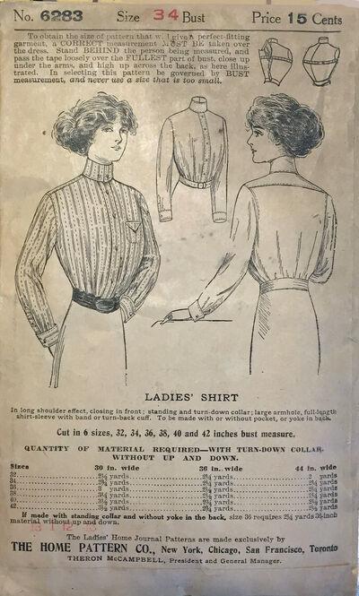 Ladies HOme Journal 1911 6283 shirtwaist verso b