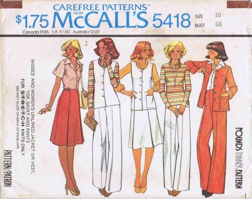 McCalls 1977 5418