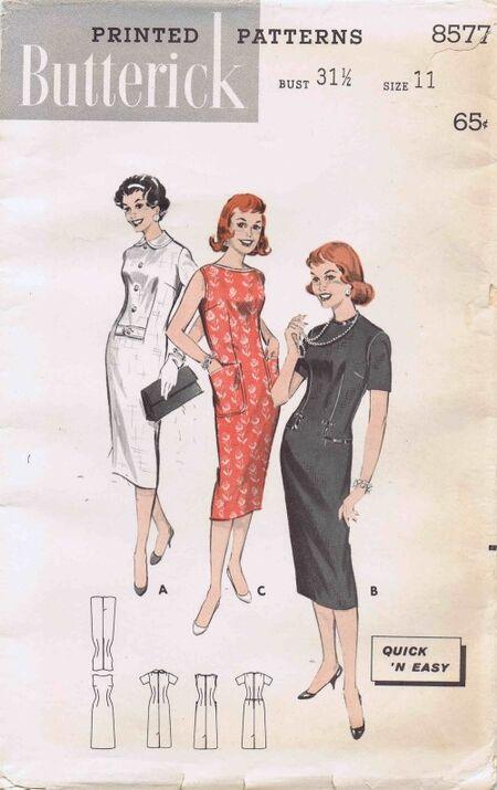 Butterick 1958 8577