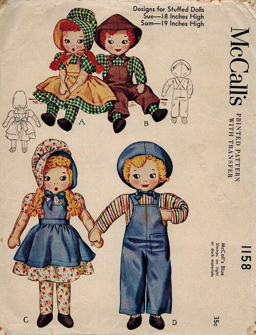 McCall's 1158 Doll pattern