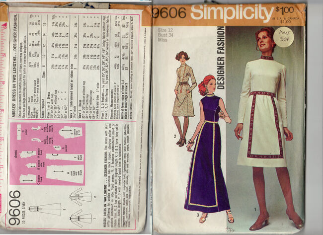 Simplicity 9606 image