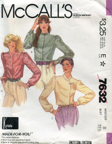 Mccalls7632blouses