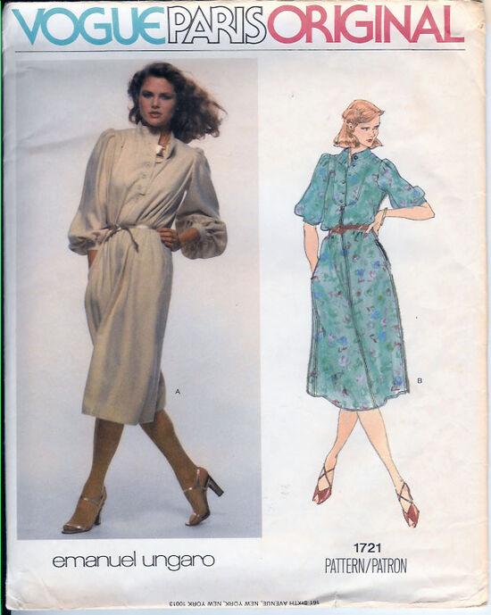 1721 1980s emanuel ungar dress