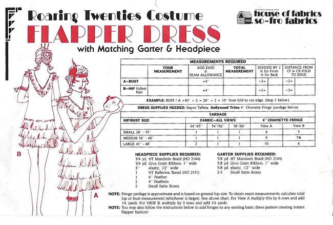 Roaring 20s flapper dress