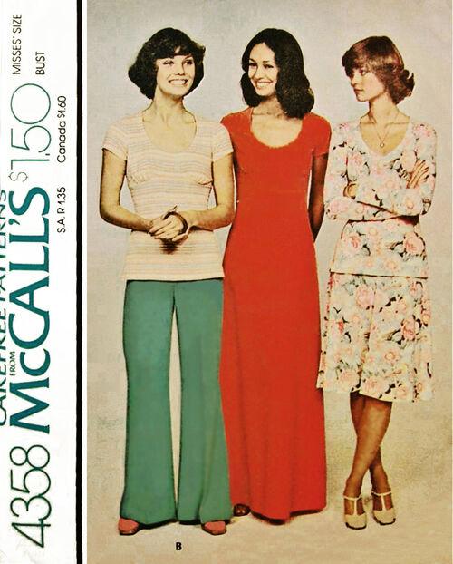 1974 Yoke Scoop Neck Dress etc