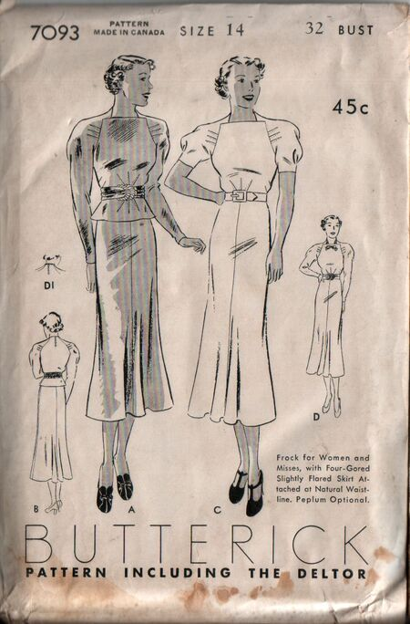 Butterick 7093 front