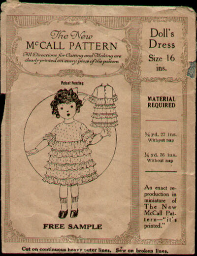 McCalls Doll Dress 1