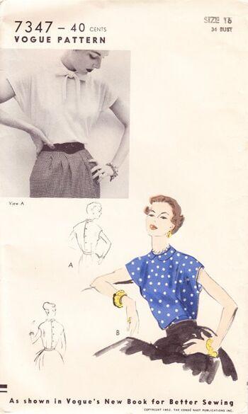 Bow blouse envelope