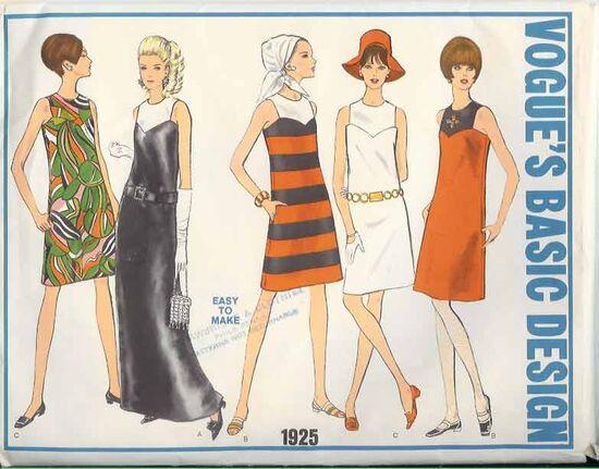 W-1925V Basic 1960s Dress
