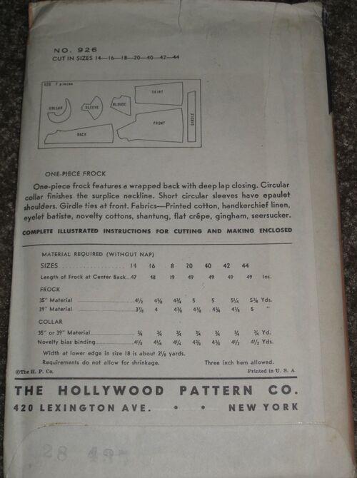 Hollywood 926 back
