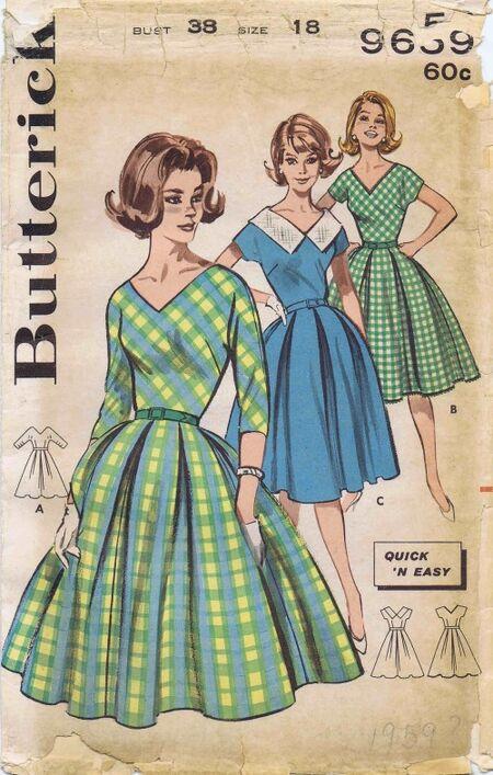 Butterick 1961 9659