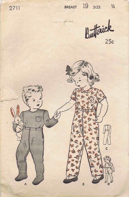 Butterick 1943 2711