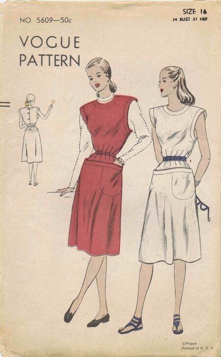 Vogue 1945 5609