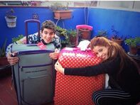Fande with suitcases