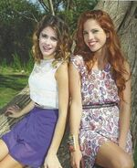 Tini, Cande and a tree