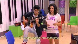 "Violetta Naty sings ""Entre Tú y Yo"""